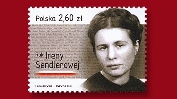 poland-2018-stamp-irena-sendler-world-war-two-rescuer-of-children