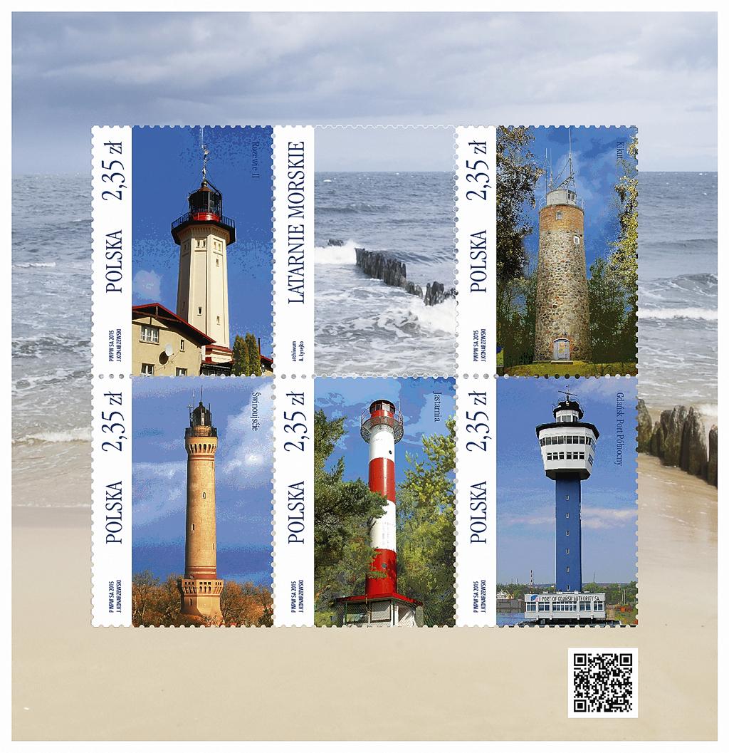 poland-lighthouse-souvenir-sheet-2015