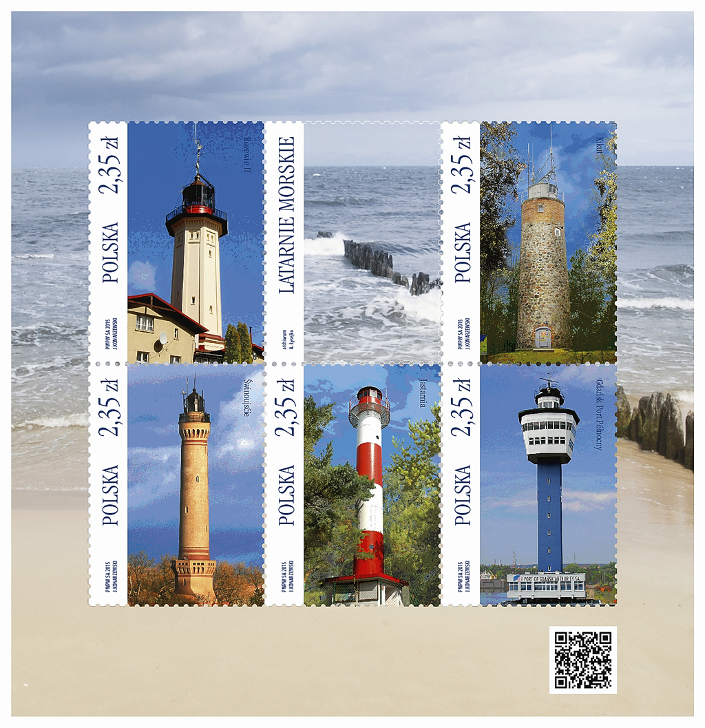 poland-lighthouse-souvenir-sheet-2015