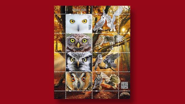 poland-owls-stamp