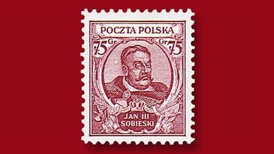 poland-sobieski-75-groszy-stamp
