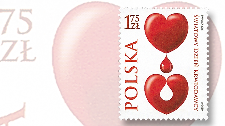 poland-world-blood-donation-day-stamp