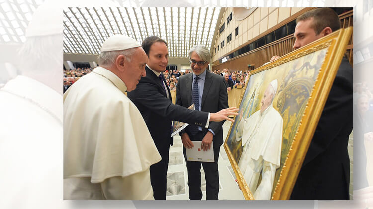 Pope Francis meets photagrapher