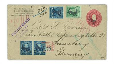 port-townsend-washington-kicking-mule-fancy-cancel-registered-cover