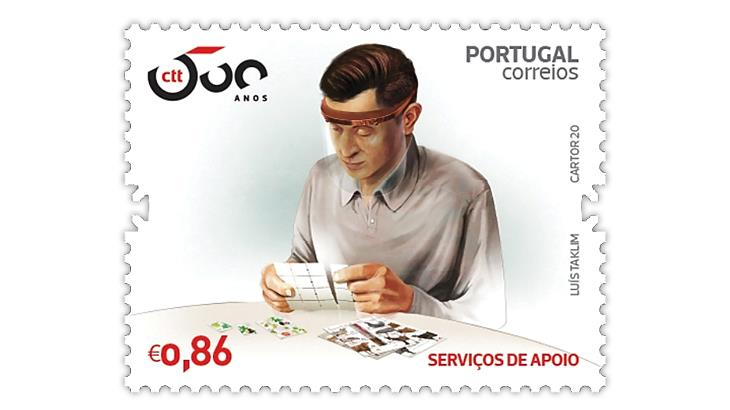 portugal-500-years-postal-service-stamp-covid-19