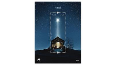portugal-light-emitting-diode-star-of-bethlehem-christmas-souvenir-sheet