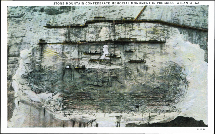 postcard-henry-augustus-lukeman-stone-mountain-sculpture