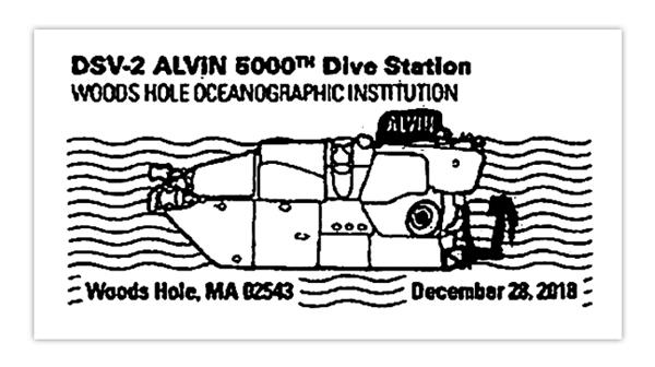 Postmark for the Alvin submersible research vessel