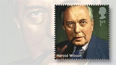 prime-minister-harold-wilson-stamp