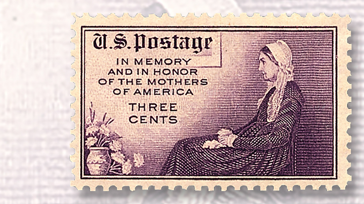 1934 3¢ Mother's Day stamp played an important role in U S