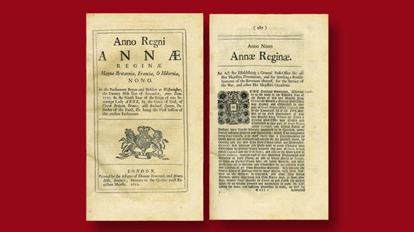 queen-anne-post-office-act-1710-document