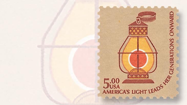 railroad-lantern-americana-stamp