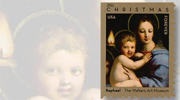 raphael-christmas-madonna-child-stamp