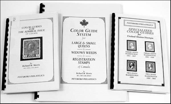 The Color Guides For Admiral Issue Of Canada Guide System Large Small Queens And Widows Weeds Registration Stamps