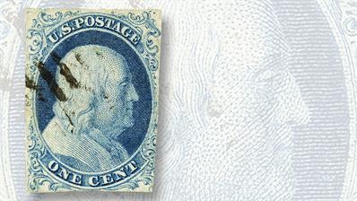 regency-superior-auction-1851-benjamin-franklin-stamp