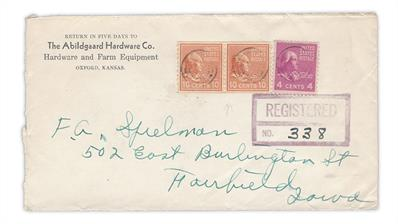 registered-cover-1942-oxford-kansas-fairfield-iowa-tyler-coil-stamp-madison-sheet-stamp