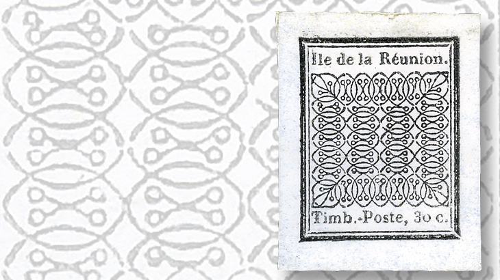 reunion-30-centime-stamp