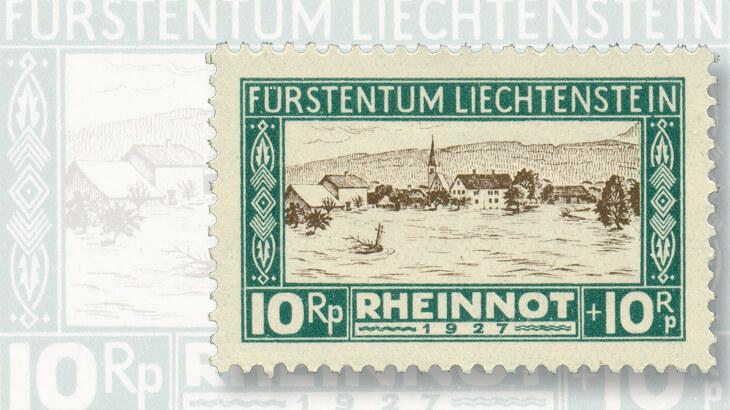 rhine-river-ruggell-flood-stamp