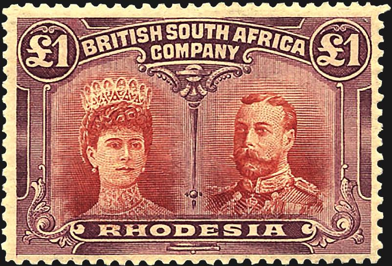 rhodesia-double-head-color-error-1910-harmer-schau-auction-aps-stampshow
