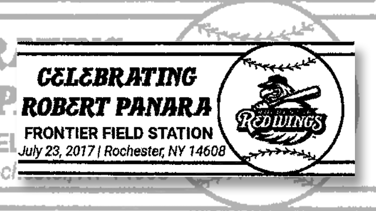 Rochester Postmark For Baseball Fan And Stamp Honoree Robert Panara