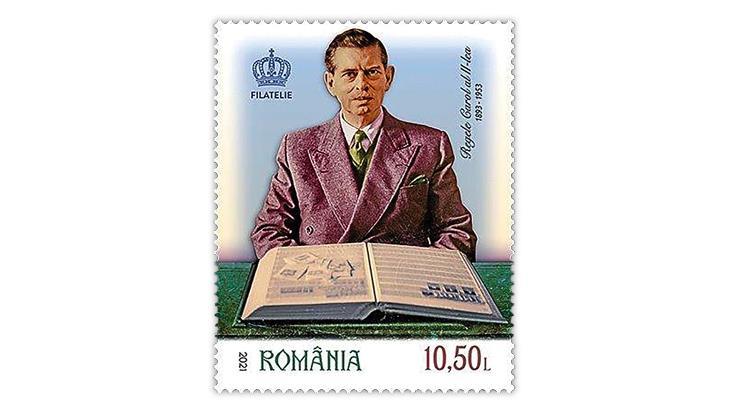 romania-2021-king-carol-stamp