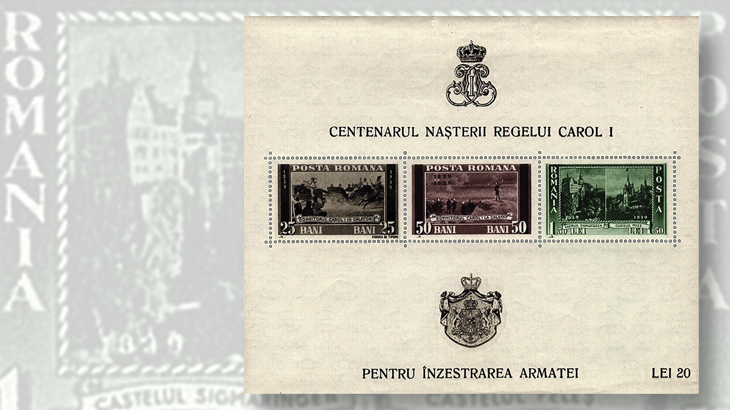 romania-king-carol-souvenir-sheet-birth-centenary