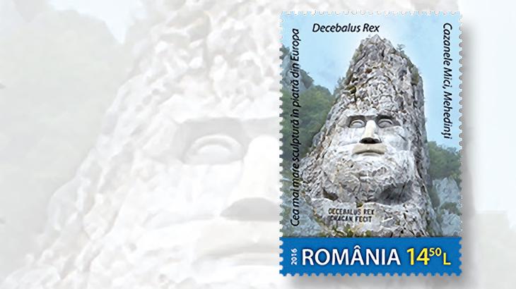 romania-king-darcia-stamp-stone-sculpture