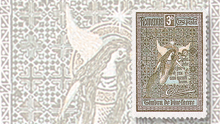romania-queen-elizabeth-angel-semipostal-1906