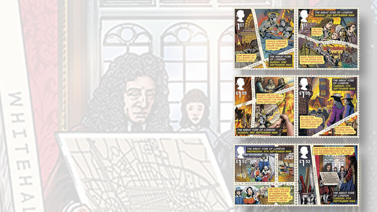 ... British stamps portray Great Fire of London using graphic-novel style