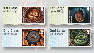 royal-mail-hibernating-animals-postage-labels