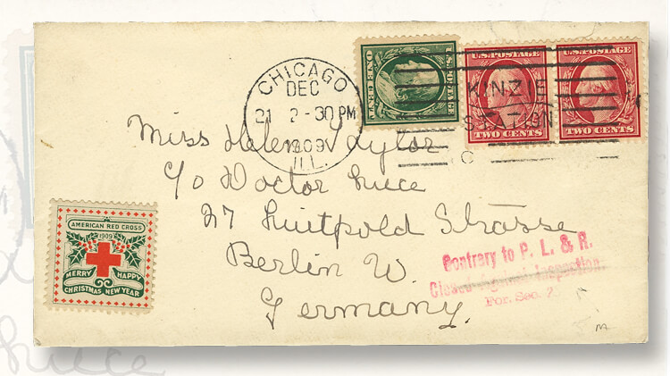 When Christmas Seals Were Placed On Mail Where They Shouldn T Be