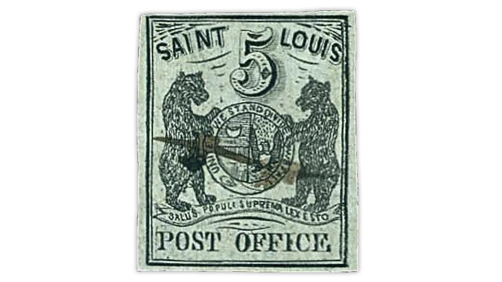 saint-louis-bear-1845-black-postmaster-provisional-stamp