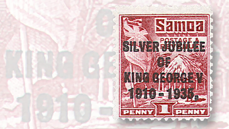 samoa-silver-jubilee-hut-and-flag-stamp