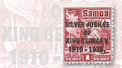 samoa-silver-jubilee-hut-and-flag-stamp
