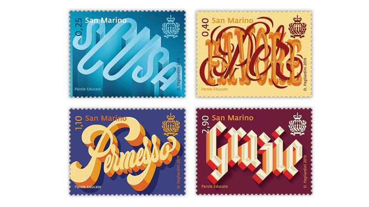 san-marino-polite-words-stamps