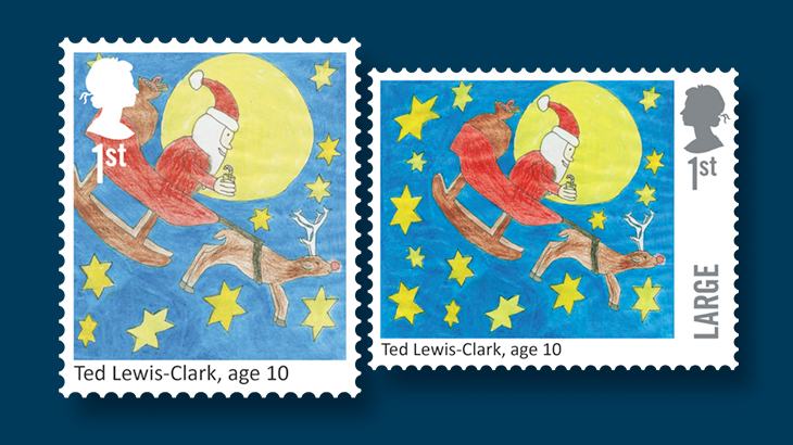 santa-claus-great-britain-first-class-stamps