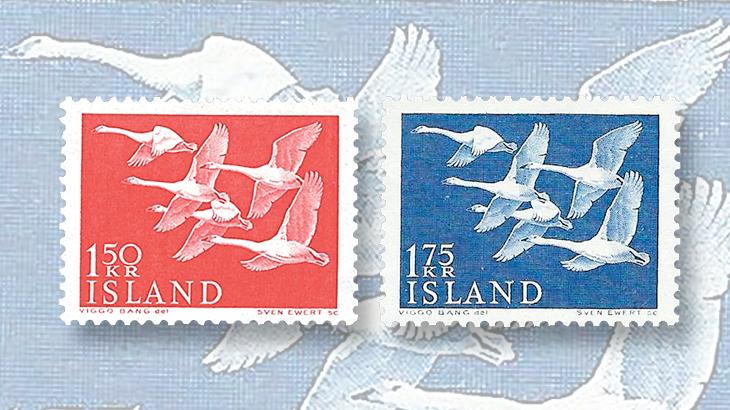 scandinavia-iceland-1956-swans-stamp-nordic-region