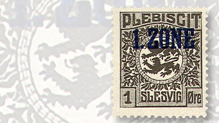 schleswig-plebiscite-stamp-1-zone-overprint
