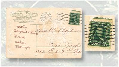 second-1908-one-cent-franklin-postcard-canceled