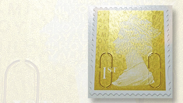 Gold Machin stamps