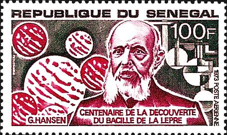 senegal-armauer-g-hansen-stamp-1973