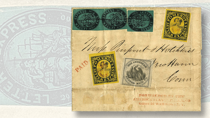 siegel-auction-1844-three-carriers-cover-puliafito-collection