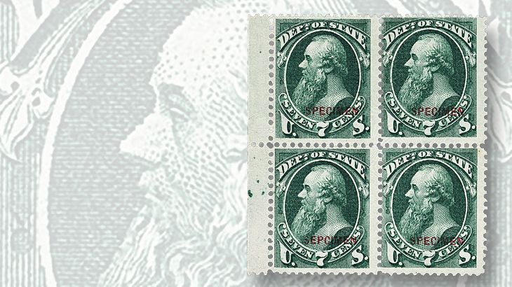 siegel-auction-1875-state-department-stanton-block-sepcimen-error-huggins-collection