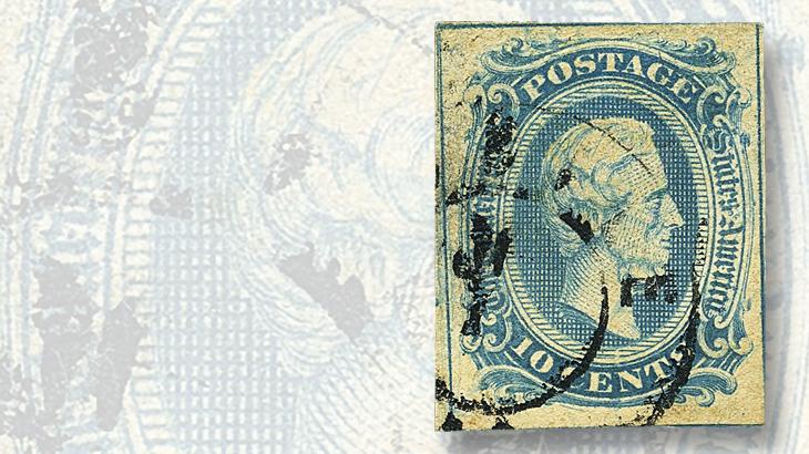 siegel-auction-jefferson-davis-stamp-frameline