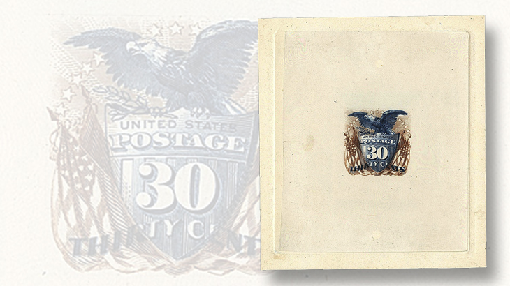 siegel-us-1869-30c-large-die-trial-color-proof