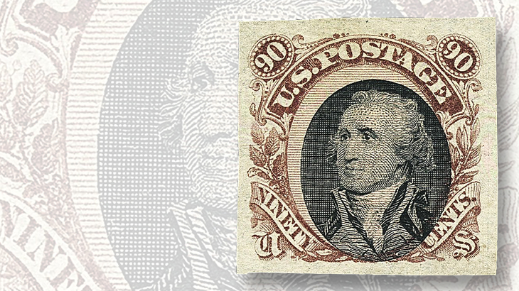 price and walske collections auctioned by siegel in a plate essay on stamp paper of the 1869 90acirccent stamp washington s portrait rather than lincoln s brought 161 at the siegel of the price collection