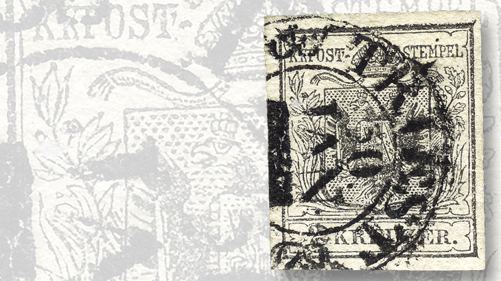silver-gray-variety-of-the-2-kreuzer-stamp