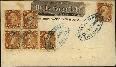 six-cent-yellow-brown-large-queen-stamps-franked-cover