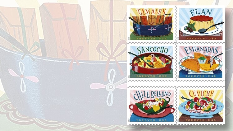 six-delicioso-stamps-depict-food-dishes