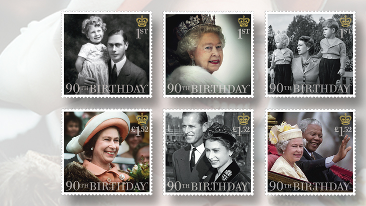 six-stamps-issued-queen-elizabeth-ii